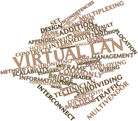 lan: Abstract word cloud for Virtual LAN with related tags and terms