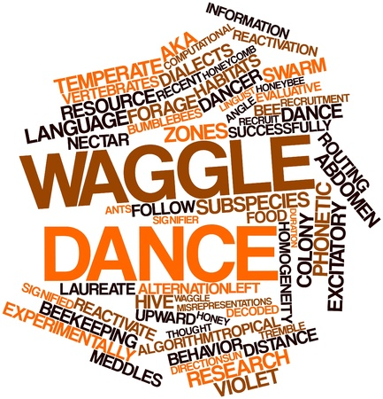 Abstract word cloud for Waggle dance with related tags and terms photo