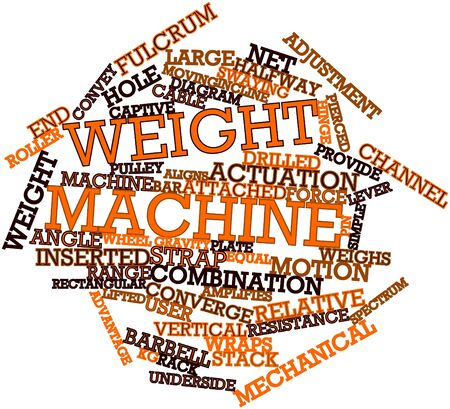 weight machine: Abstract word cloud for Weight machine with related tags and terms Stock Photo