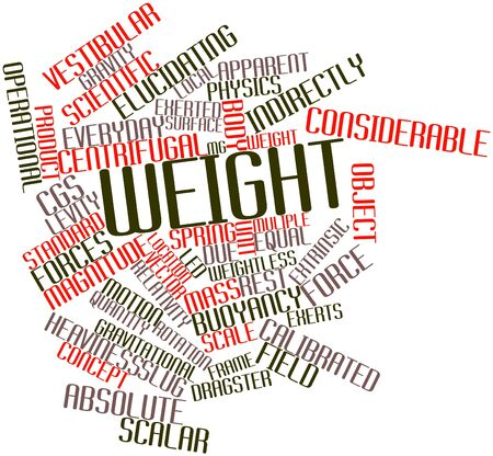gravitational field: Abstract word cloud for Weight with related tags and terms