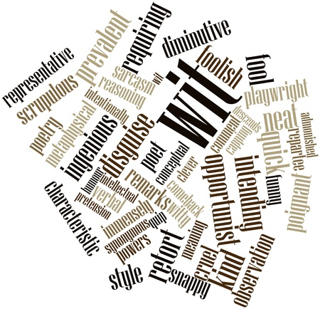 synonymous: Abstract word cloud for Wit with related tags and terms