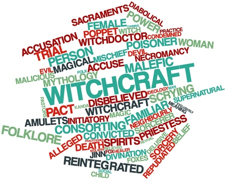 Abstract word cloud for Witchcraft with related tags and terms Stock Photo - 16772976