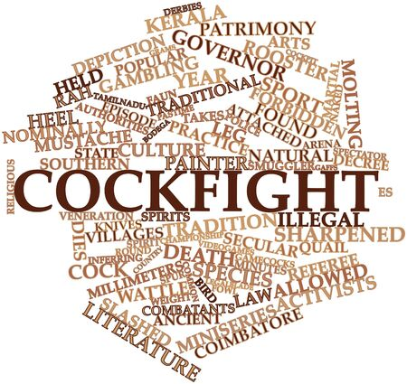 nominally: Abstract word cloud for Cockfight with related tags and terms Stock Photo