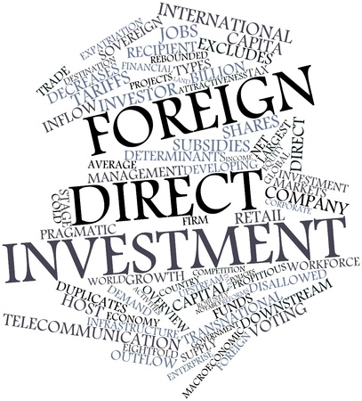 exemptions: Abstract word cloud for Foreign direct investment with related tags and terms