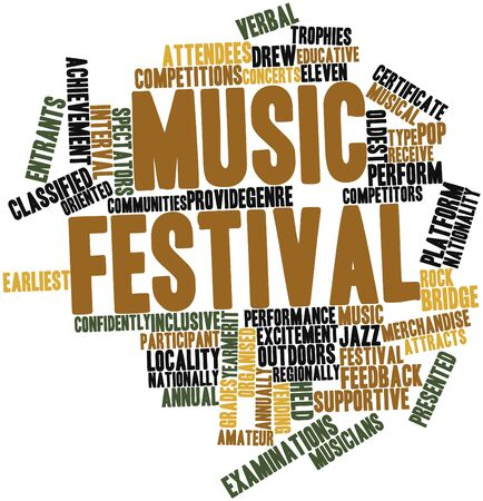 entrants: Abstract word cloud for Music festival with related tags and terms