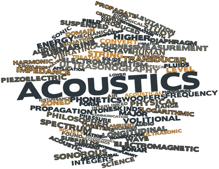 Abstract word cloud for Acoustics with related tags and terms photo