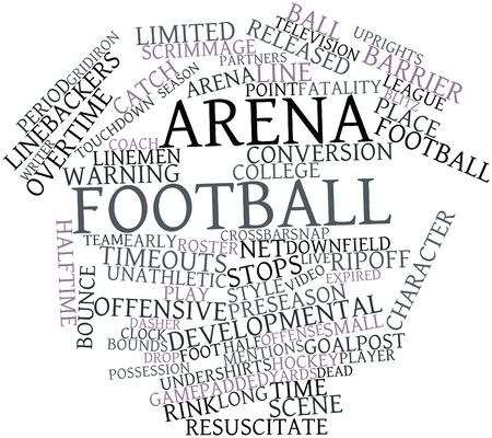 Abstract word cloud for Arena football with related tags and terms photo