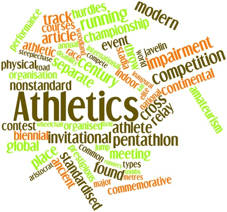 Abstract word cloud for Athletics with related tags and terms Stock Photo - 16888885