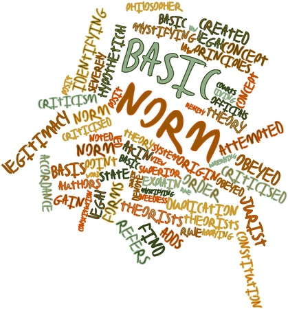Abstract word cloud for Basic norm with related tags and terms Stock Photo - 16888925