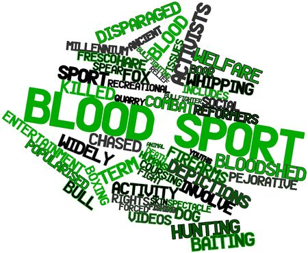 confined: Abstract word cloud for Blood sport with related tags and terms
