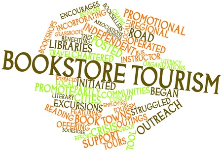 struggled: Abstract word cloud for Bookstore tourism with related tags and terms
