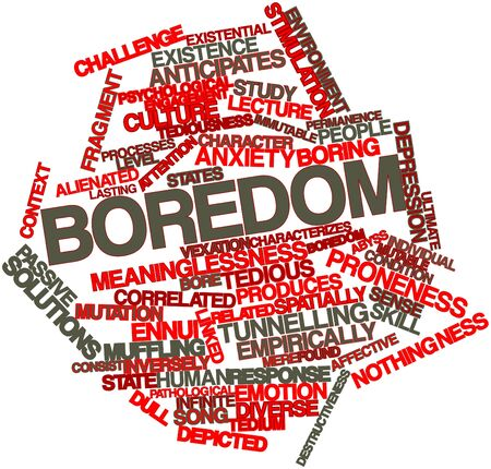 correlated: Abstract word cloud for Boredom with related tags and terms