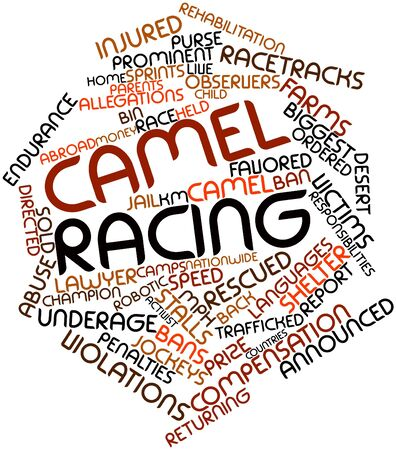 observers: Abstract word cloud for Camel racing with related tags and terms