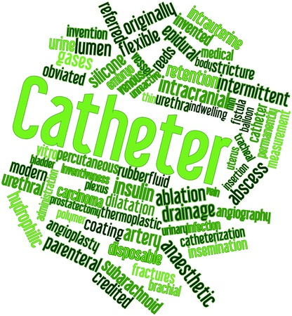 credited: Abstract word cloud for Catheter with related tags and terms