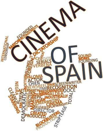 dubbing: Abstract word cloud for Cinema of Spain with related tags and terms