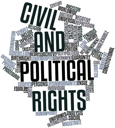 democracies: Abstract word cloud for Civil and political rights with related tags and terms