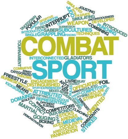 Abstract word cloud for Combat sport with related tags and terms Stock Photo - 16888905