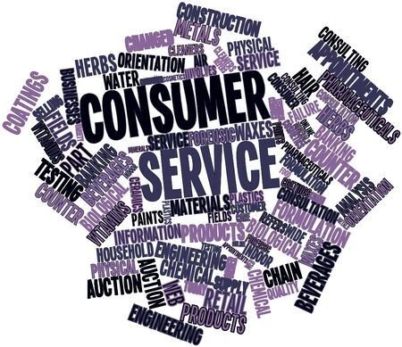 waxes: Abstract word cloud for Consumer service with related tags and terms