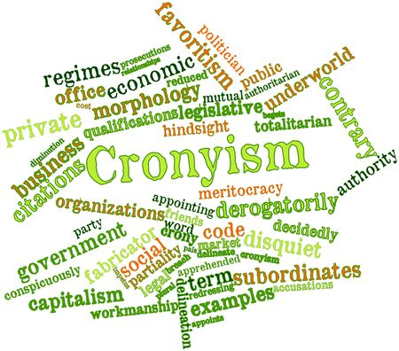 accusations: Abstract word cloud for Cronyism with related tags and terms