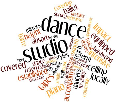 sprung: Abstract word cloud for Dance studio with related tags and terms Stock Photo