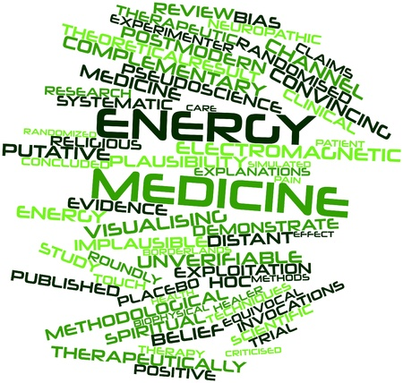 placebo: Abstract word cloud for Energy medicine with related tags and terms