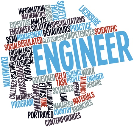 Abstract word cloud for Engineer with related tags and terms Stock Photo - 16888908
