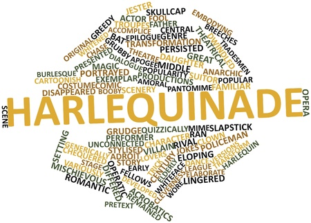 rival: Abstract word cloud for Harlequinade with related tags and terms