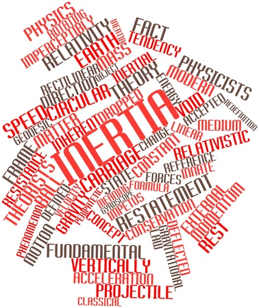 stasis: Abstract word cloud for Inertia with related tags and terms