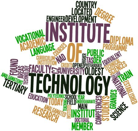 comparable: Abstract word cloud for Institute of technology with related tags and terms Stock Photo
