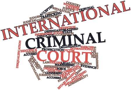 discretion: Abstract word cloud for International Criminal Court with related tags and terms