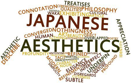 potentiality: Nube palabra abstracta para la est�tica japonesa con etiquetas y t�rminos relacionados