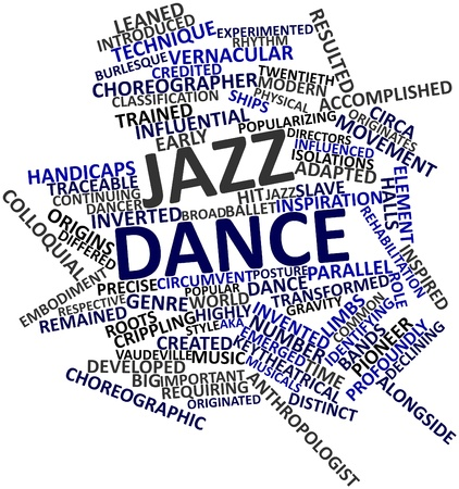 colloquial: Abstract word cloud for Jazz dance with related tags and terms