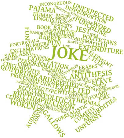antithesis: Abstract word cloud for Joke with related tags and terms Stock Photo