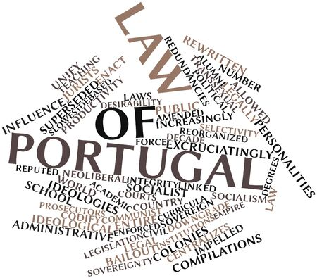 reputed: Abstract word cloud for Law of Portugal with related tags and terms