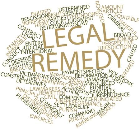 orden judicial: Nube palabra abstracta para remedio legal con las etiquetas y términos relacionados