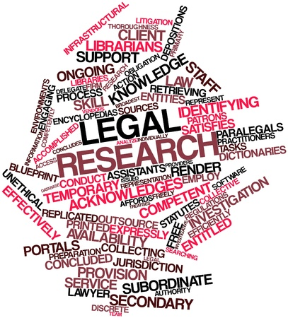 concludes: Abstract word cloud for Legal research with related tags and terms