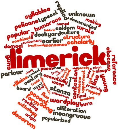 idiosyncratic: Abstract word cloud for Limerick with related tags and terms