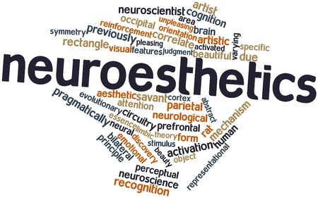 indeterminate: Abstract word cloud for Neuroesthetics with related tags and terms