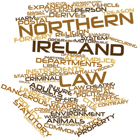 Abstract word cloud for Northern Ireland law with related tags and terms Stock Photo - 16888906