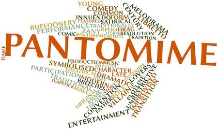 pantomima: Nube palabra abstracta para Pantomima con etiquetas y términos relacionados