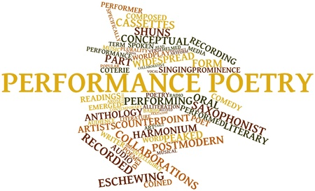 Abstract word cloud for Performance poetry with related tags and terms Stock Photo - 16888770