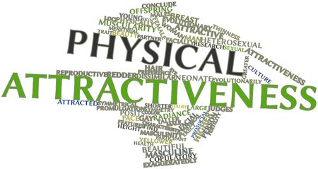 Abstract word cloud for Physical attractiveness with related tags and terms