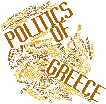 Abstract word cloud for Politics of Greece with related tags and terms Stock Photo - 16888971