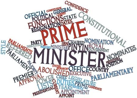 parliaments: Word cloud astratto per il Presidente del Consiglio con tag correlati e termini