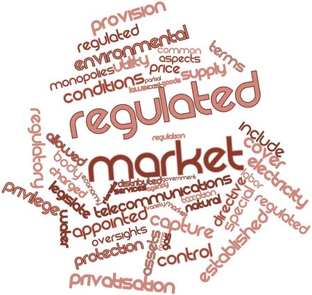 regulation: Abstract word cloud for Regulated market with related tags and terms
