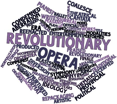 finale: Abstract word cloud for Revolutionary opera with related tags and terms