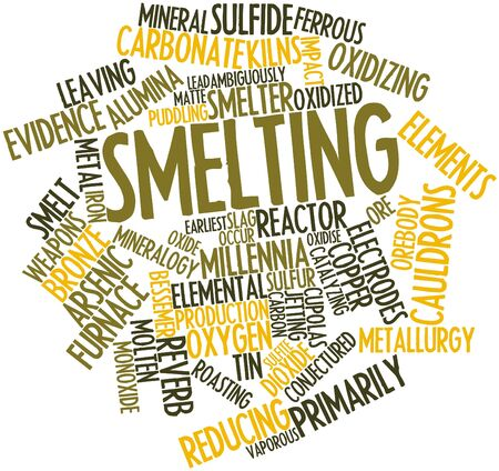 Abstract word cloud for Smelting with related tags and terms Stock Photo - 16888912