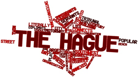 annexed: Abstract word cloud for The Hague with related tags and terms