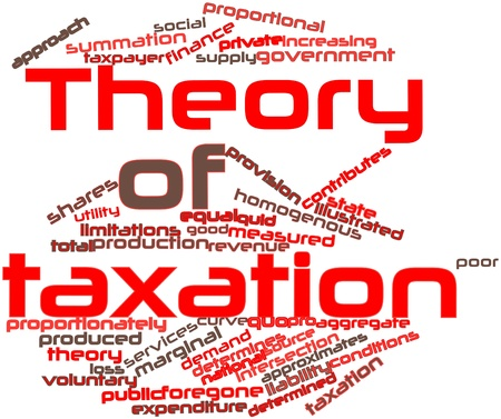 economic theory: Abstract word cloud for Theory of taxation with related tags and terms