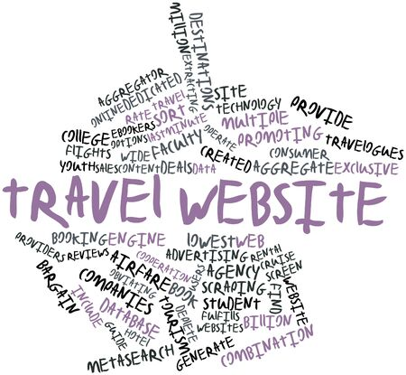 metasearch: Abstract word cloud for Travel website with related tags and terms